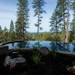 outdoors pool with view to the woods