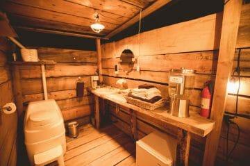 ponderosa yurt interior kitchen